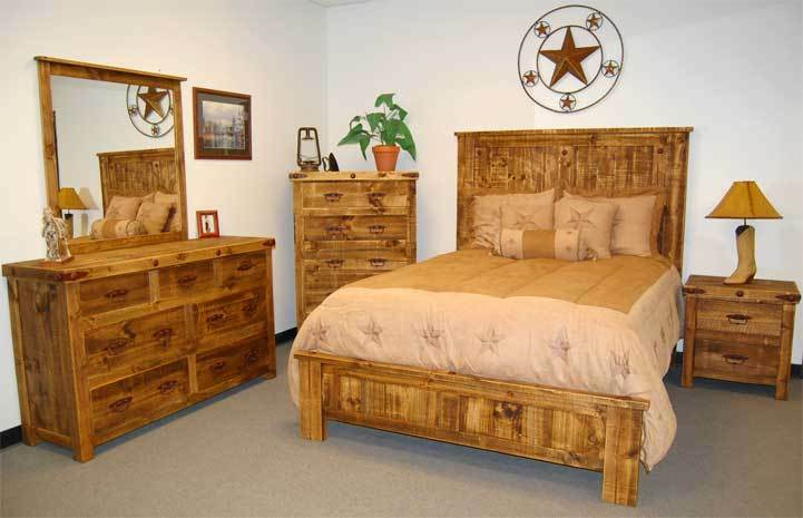 rustic wood bedroom furniture reclaimed bedroom set 5 rustic western cabin 17026