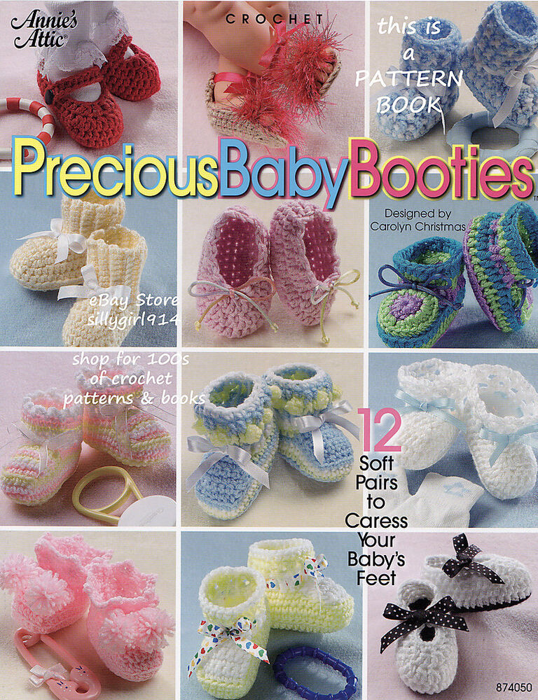 Book Cover Crochet S : Quot precious baby booties annie s attic crochet pattern book