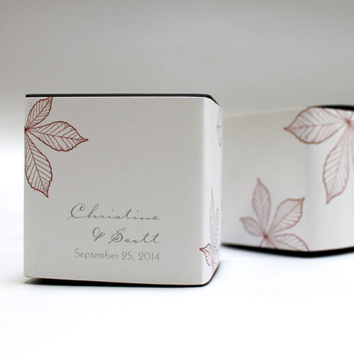 Wedding Gift Box Ebay : 20 Autumn Leaf Fall Printed Favor Boxes Wedding Favors eBay