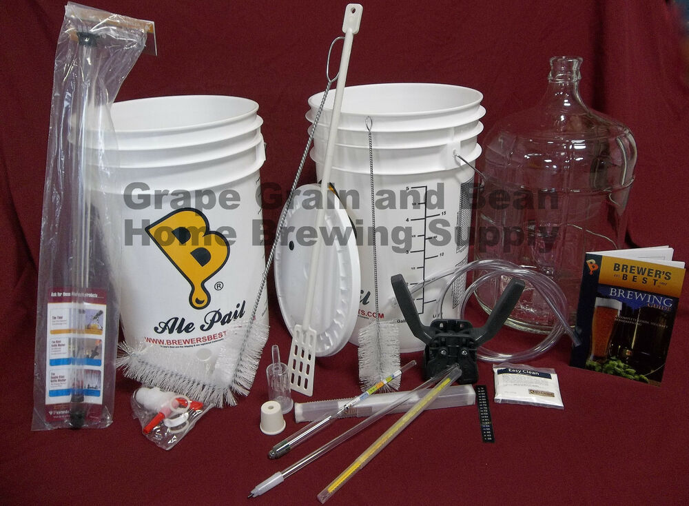 Deluxe brewers best home brewing equipment kit beer for Best craft beer kit