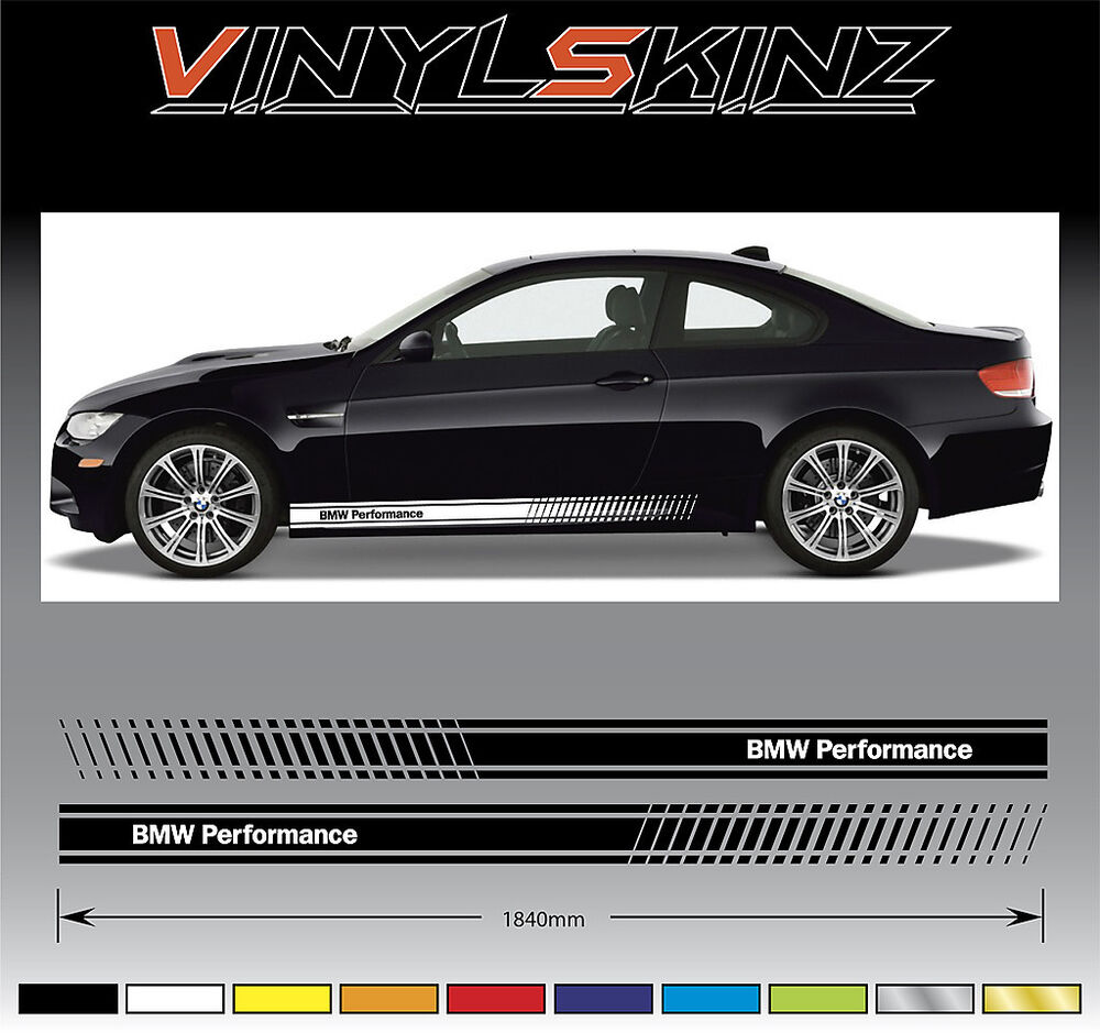 Bmw Z4 Tuning Parts: BMW Performance Premium Side Stripes Stickers Decals 1 3 5