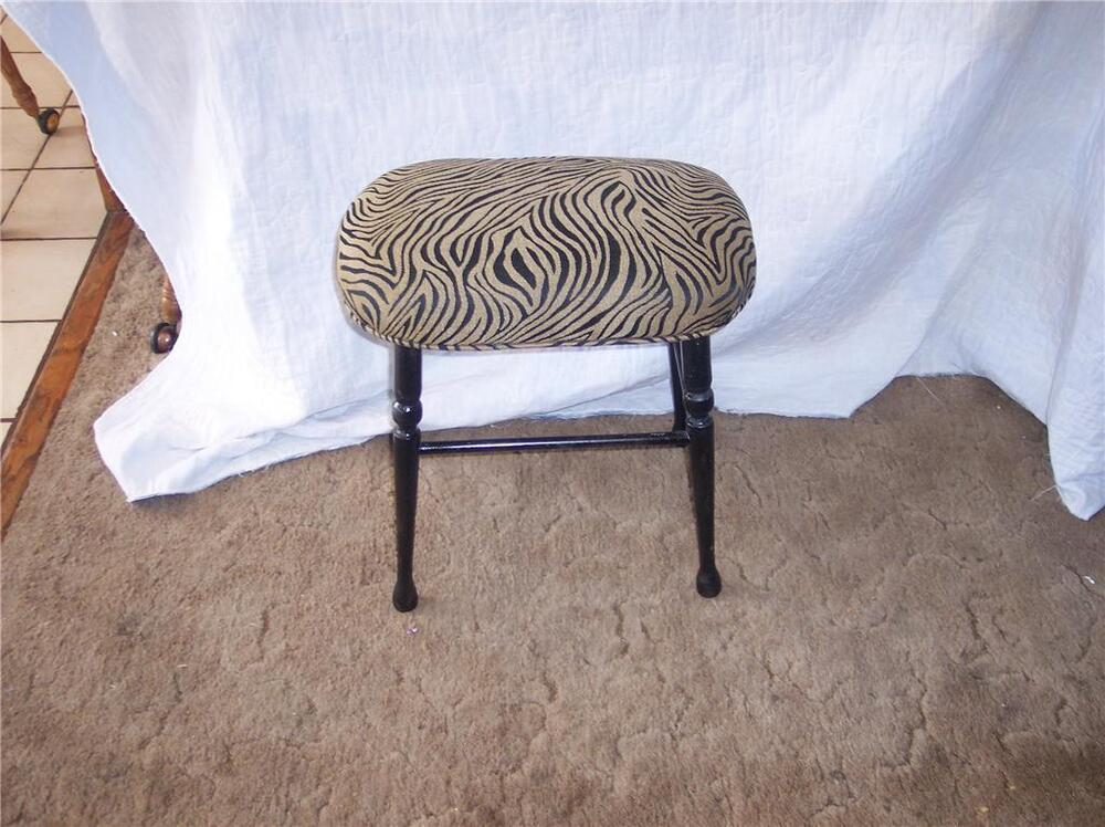 Animal Print Maple Vanity Bench St75 Ebay