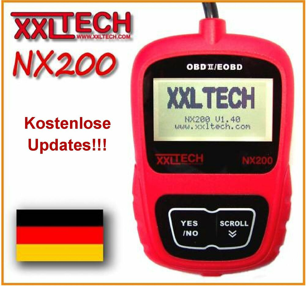 xxltech nx200 obd2 obd 2 ii can tester scanner diagnoseger t mercedes bmw opel ebay. Black Bedroom Furniture Sets. Home Design Ideas