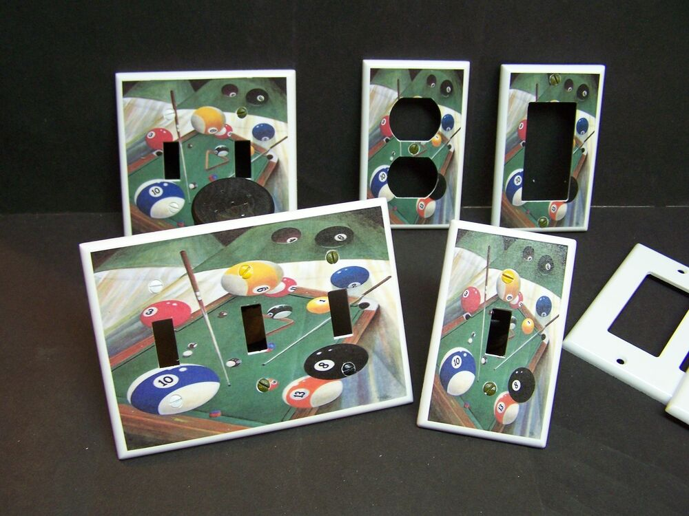 POOL BILLIARDS TABLE 8 BALL #3 LIGHT SWITCH OR OUTLET ...