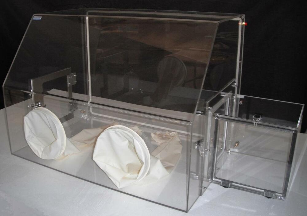 Laboratory glove box nitrogen glove box for lab with - Porta poster plexiglass ...