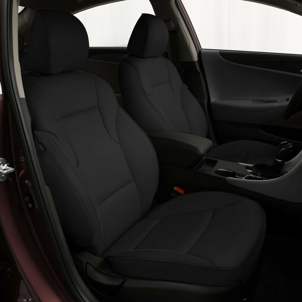 katzkin black leather int seat cover fits 2011 2012 2013 hyundai sonata gls se ebay. Black Bedroom Furniture Sets. Home Design Ideas