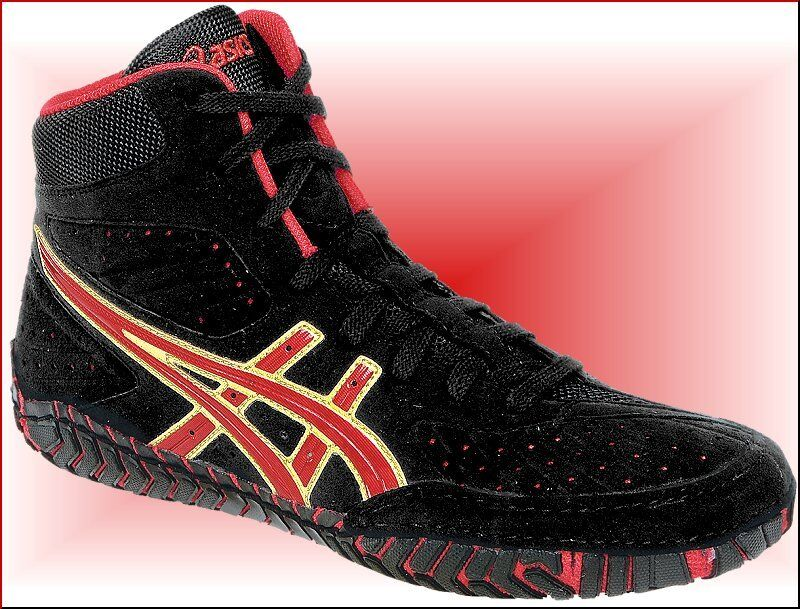 Asics Aggressor Wrestling Shoes Black And Gold