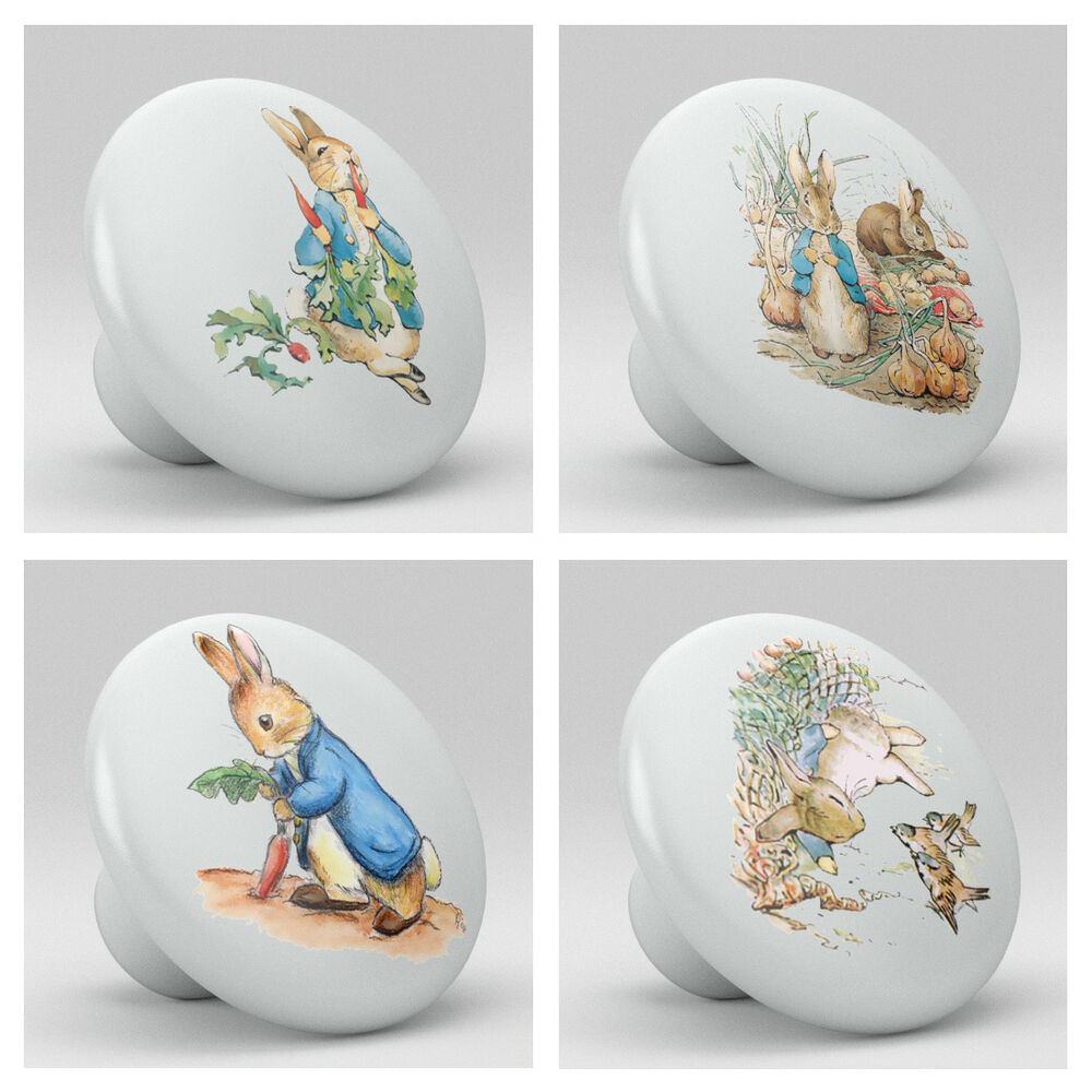 kitchen cabinet knobs and pulls sets set of 4 rabbit ceramic knobs pulls kitchen drawer 19024