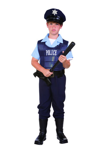 Police officer policeman cop child boy costumes law enforce kids outfit 90264 ebay - Police officer child costume ...