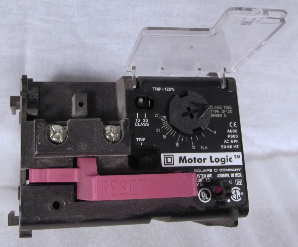 Square d motorlogic solid state overload relay 9065 sf 120 for Square d motor logic