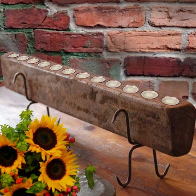 Tuscan rustic 12 flame sugar mold candle holder w candles - What to do about mold ...