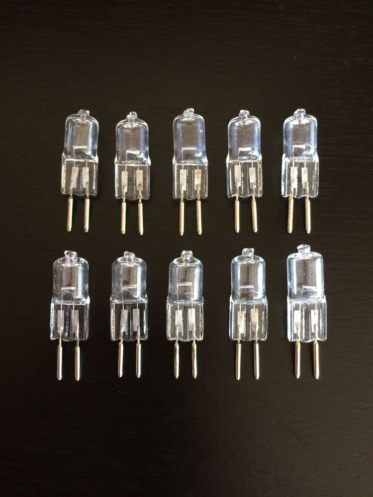 10 pk jc bi pin halogen light bulbs 12 volt 50 watt for landscape light ebay. Black Bedroom Furniture Sets. Home Design Ideas