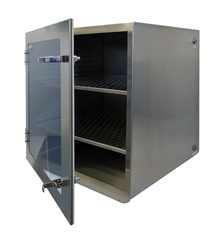 Airtight Stainless Steel Cabinet ~ Stainless steel desiccator cabinet w gas port