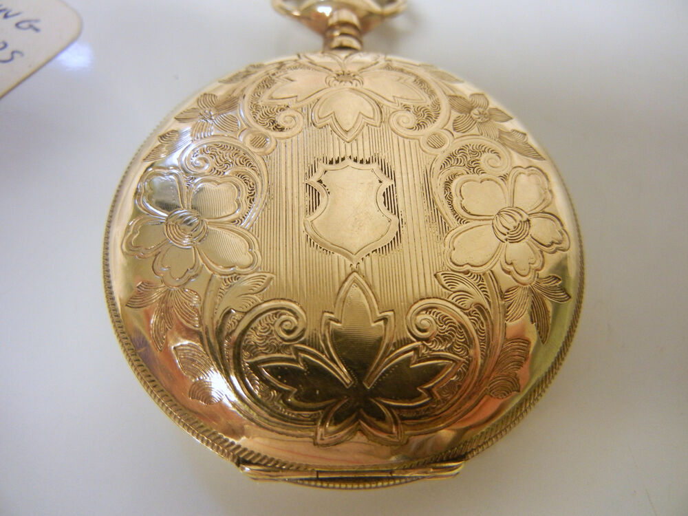 Antique Elgin Gold Filled Pocket Watch Working Condition ...