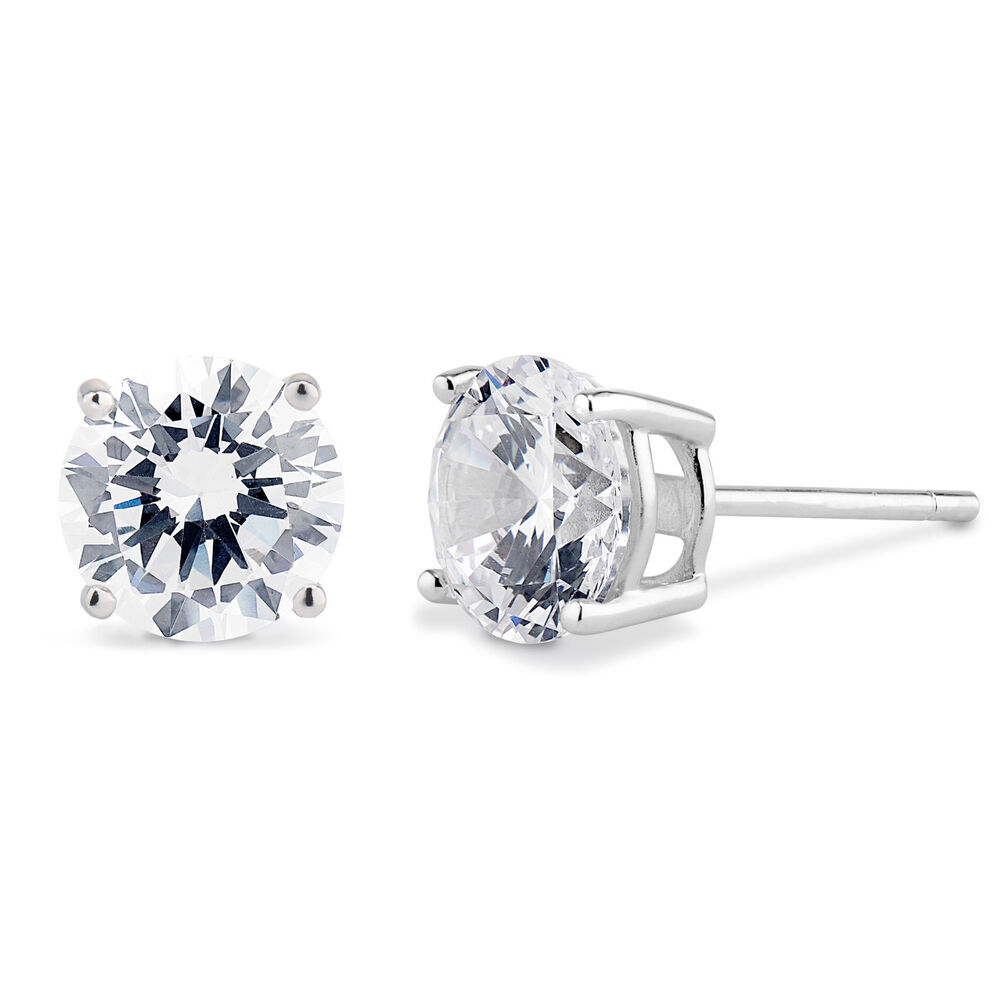 solid sterling silver basket set cz stud earrings ebay
