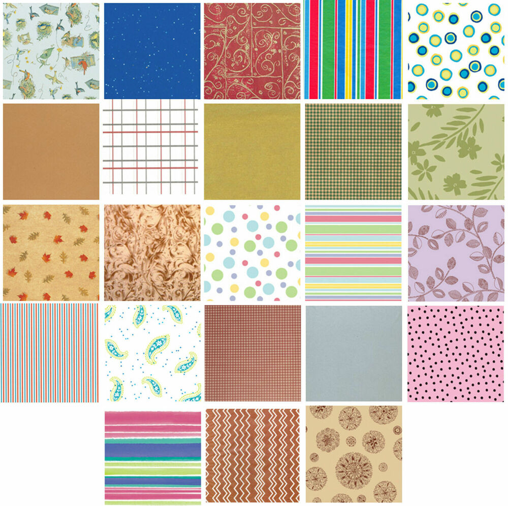 Printed Patterned Tissue Wrapping Paper luxury 5 sheets - 30 more you choose : eBay
