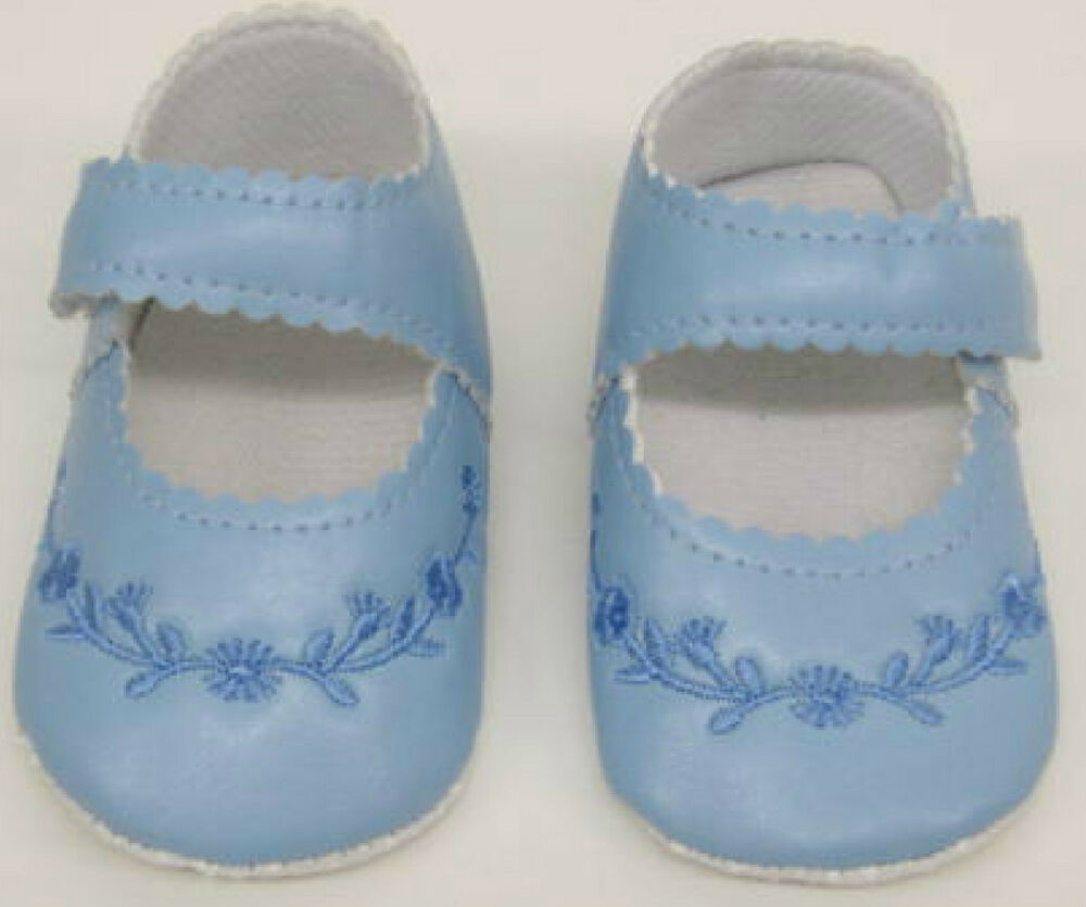 Baby Shoes Blue Girls Boys infant First Size New 0 12