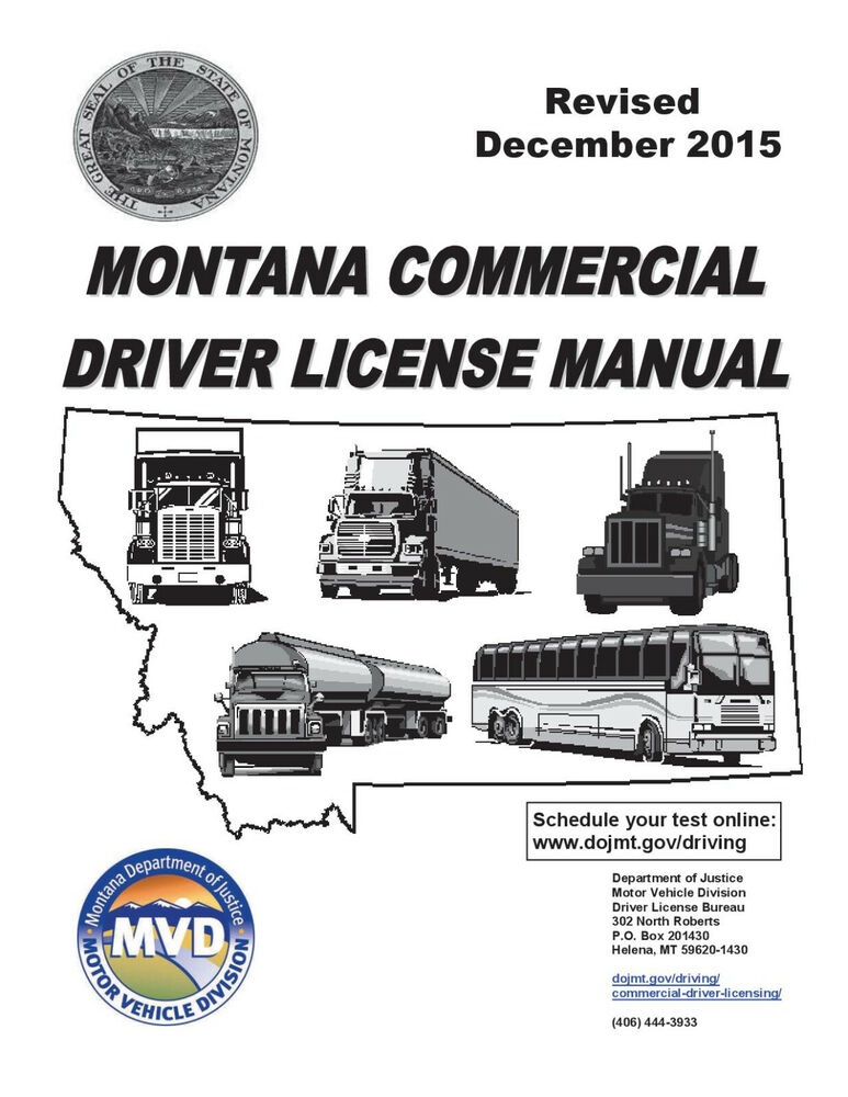 Commercial Driver Manual For Cdl Training Montana On Cd Manual Guide