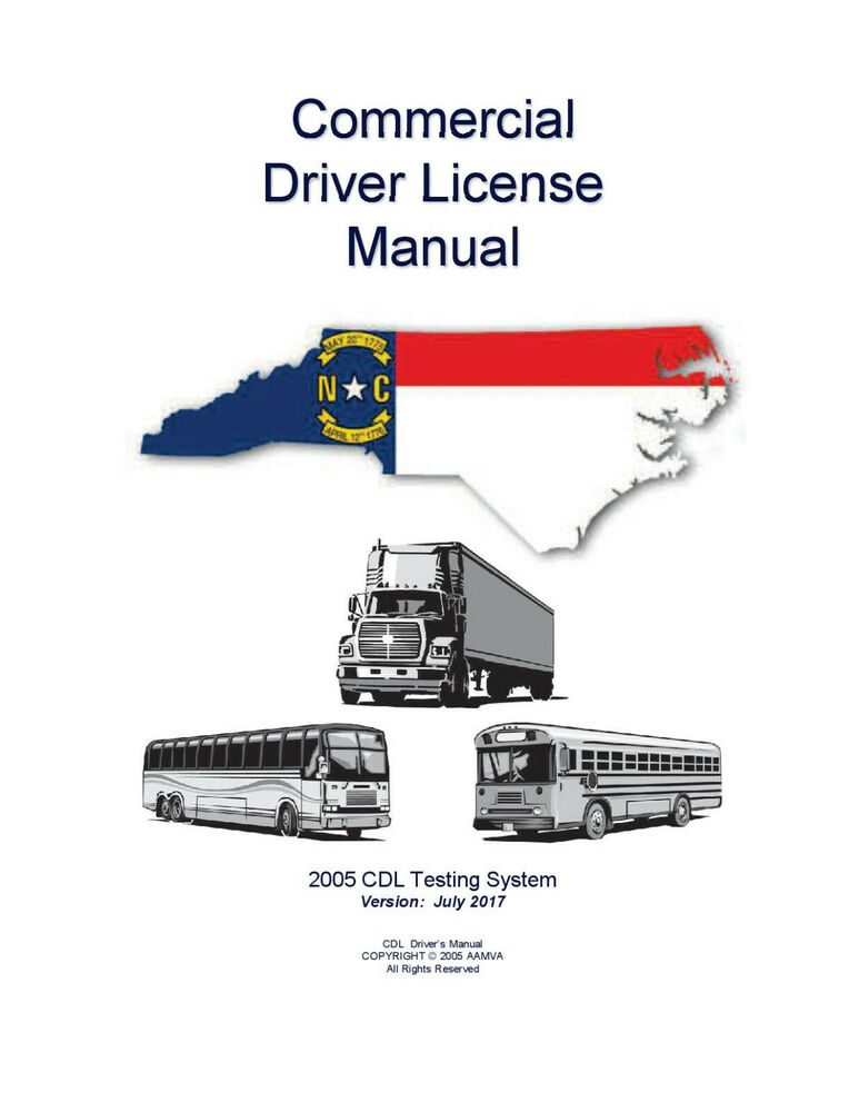 Commercial Driver Manual For Cdl Training North Carolina Manual Guide