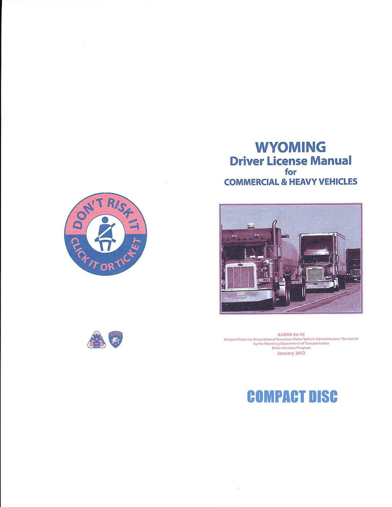 Commercial Driver Manual For Cdl Training Wyoming On Cd Manual Guide