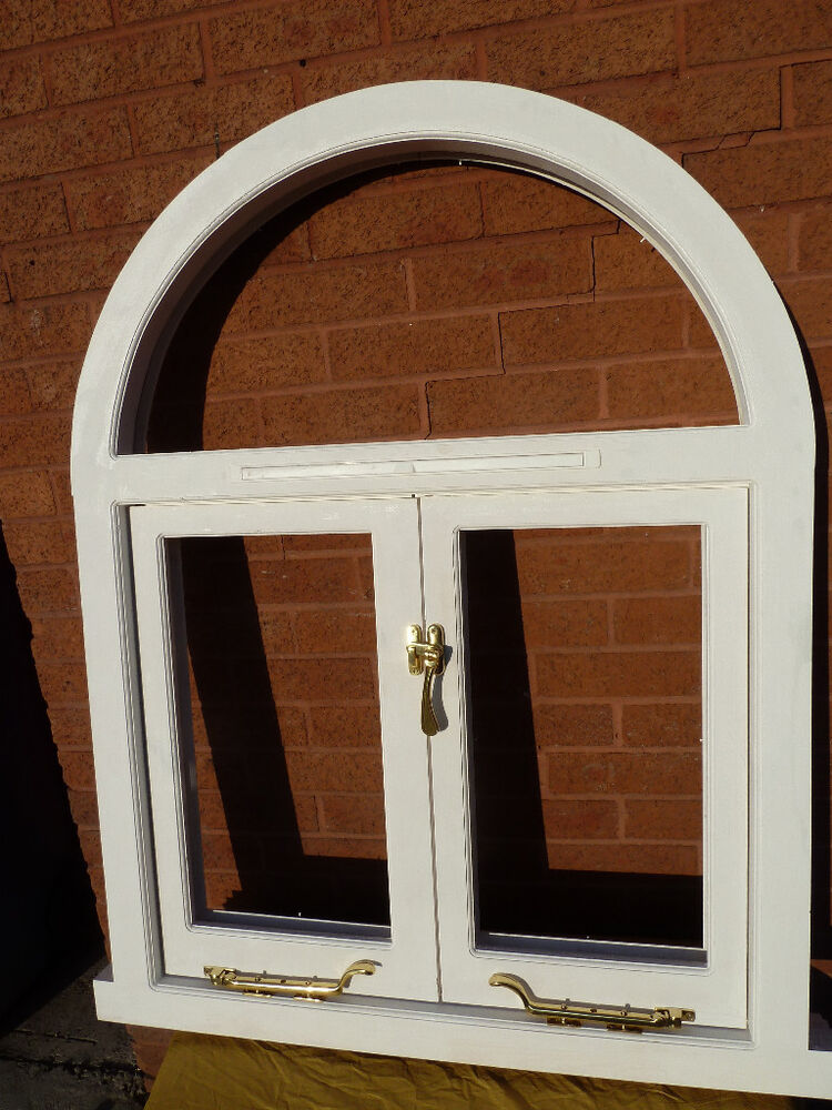 Bespoke semi circular top arch window timber wooden made for Arch top windows