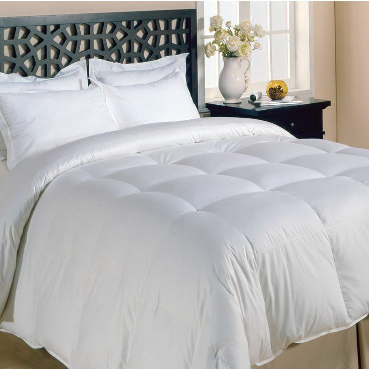 soft all season white baffled down alternative comforter new queen king szs ebay. Black Bedroom Furniture Sets. Home Design Ideas