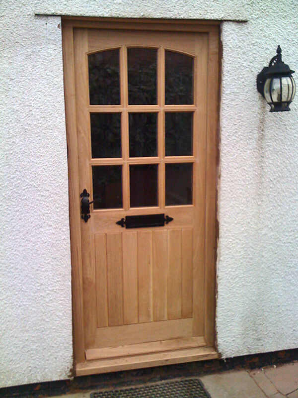 Hardwood front door georgian style low price made to for Hardwood front doors