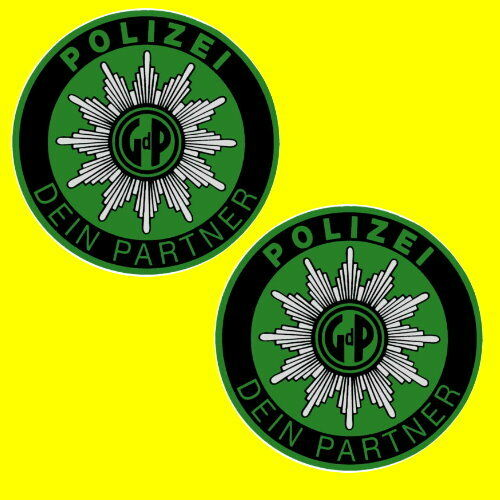 polizei gdp aufkleber sticker innenaufkleber polizeiaufkleber kfz autostern auto ebay. Black Bedroom Furniture Sets. Home Design Ideas