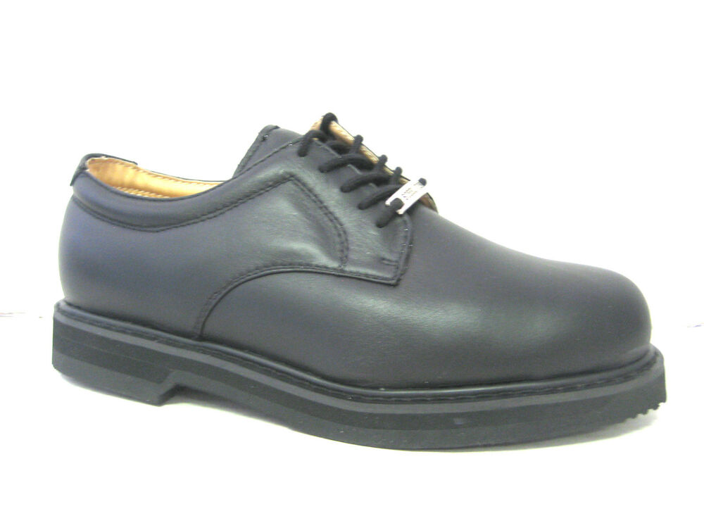 vegace steel toe black leather shoe work restaurant