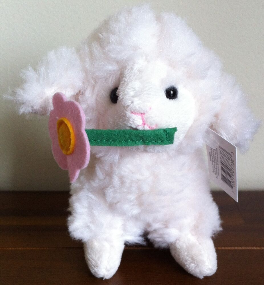 Sweet White Lamb Baby Sheep Soft Plush Toy/Easter Gift ...