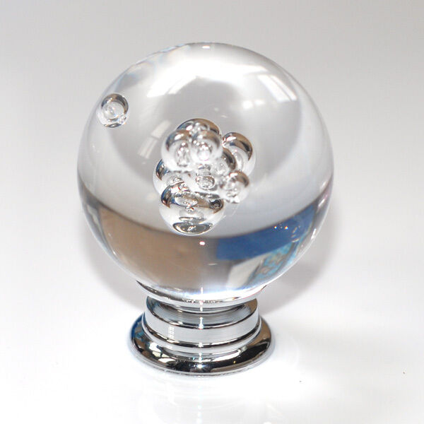 K9 Clear Crystal Knob Round Cabinet Drawer Glass Knobs