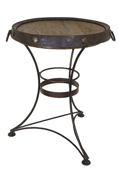 Man Cave End Table : Whiskey barrel end table man cave side rustic