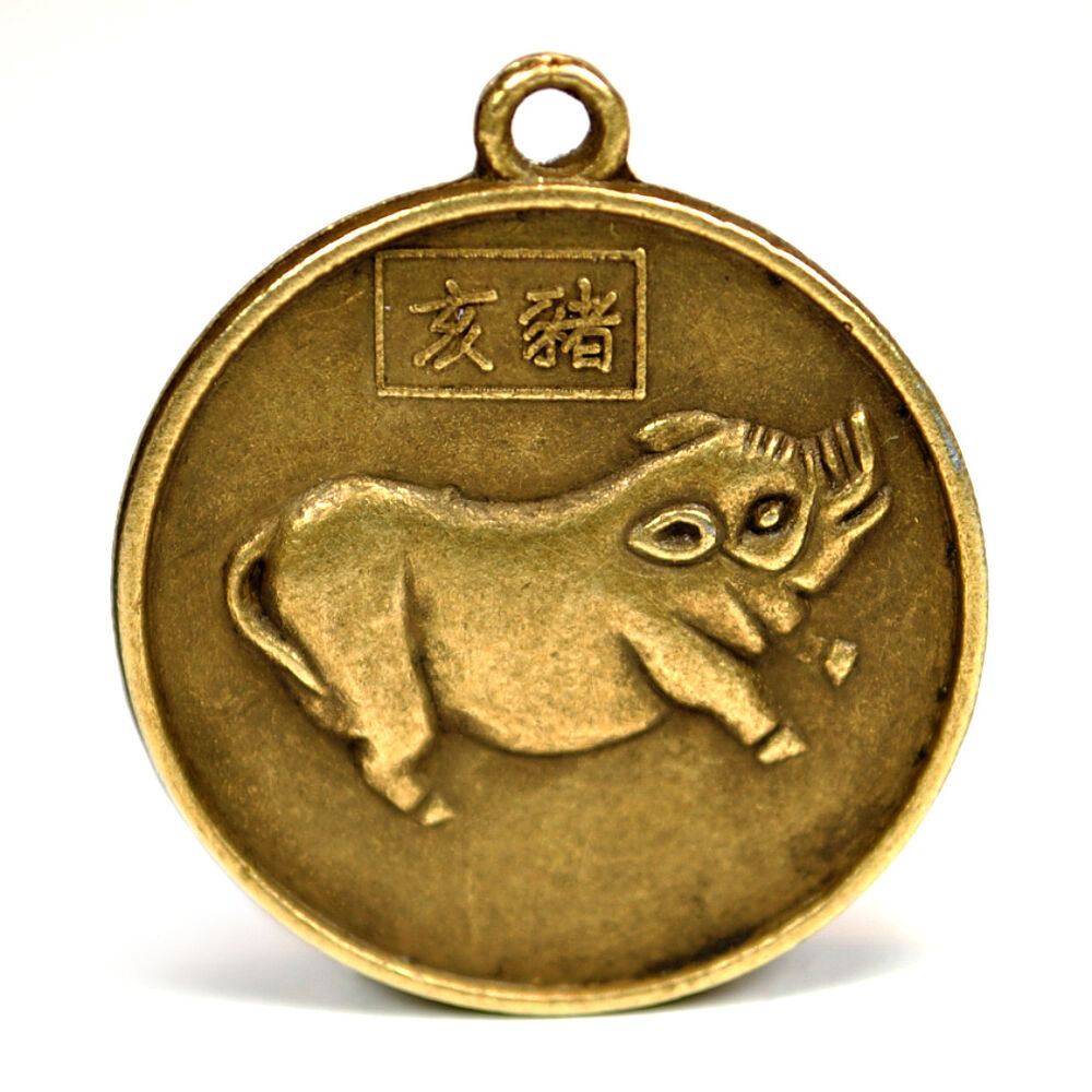 Year Of The Pig Good Luck Charm 1 Quot Chinese Zodiac High