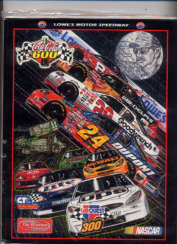 Coca cola 600 may 2001 lowes motor speedway race program for Lowe s motor speedway