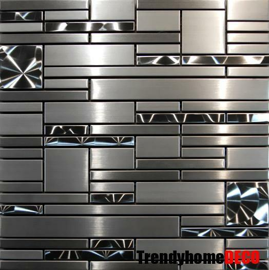 Kitchen Tiles Ebay: SAMPLE- Stainless Steel Metal Pattern Mosaic Tile Kitchen Backsplash Wall Sink