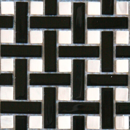 backsplash glass tile samples sample black white basketweave glass mosaic tile 220