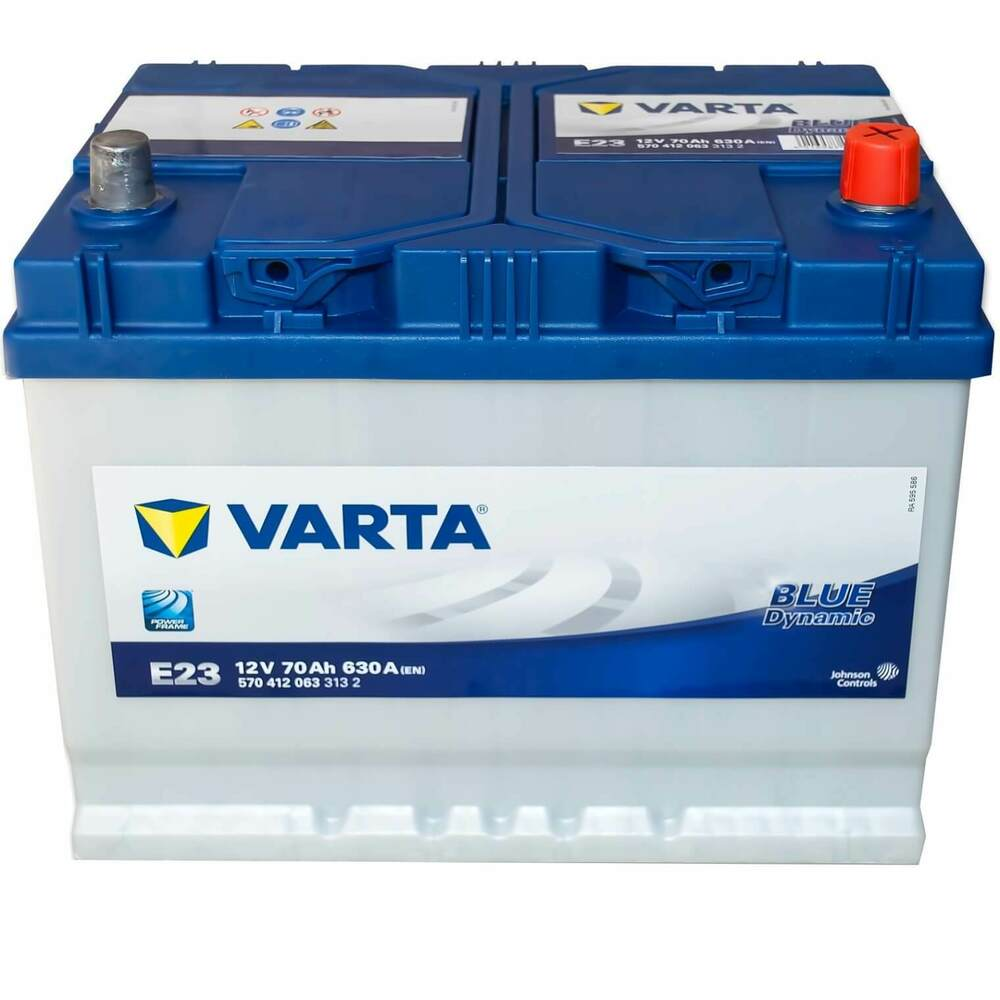 autobatterie 12v 70ah 630 a en varta blue dynamic e23 asia ebay. Black Bedroom Furniture Sets. Home Design Ideas