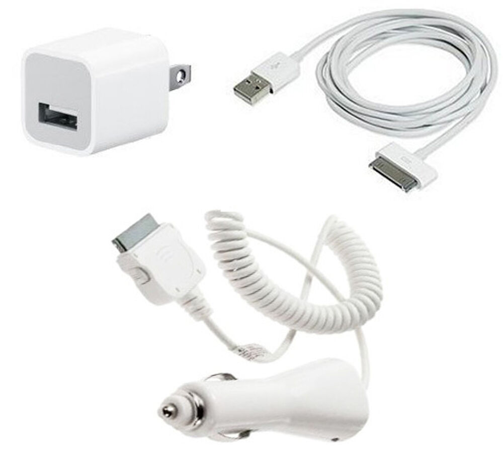 iphone wall charger usb ac home wall car charger data cable for ipod touch 5379
