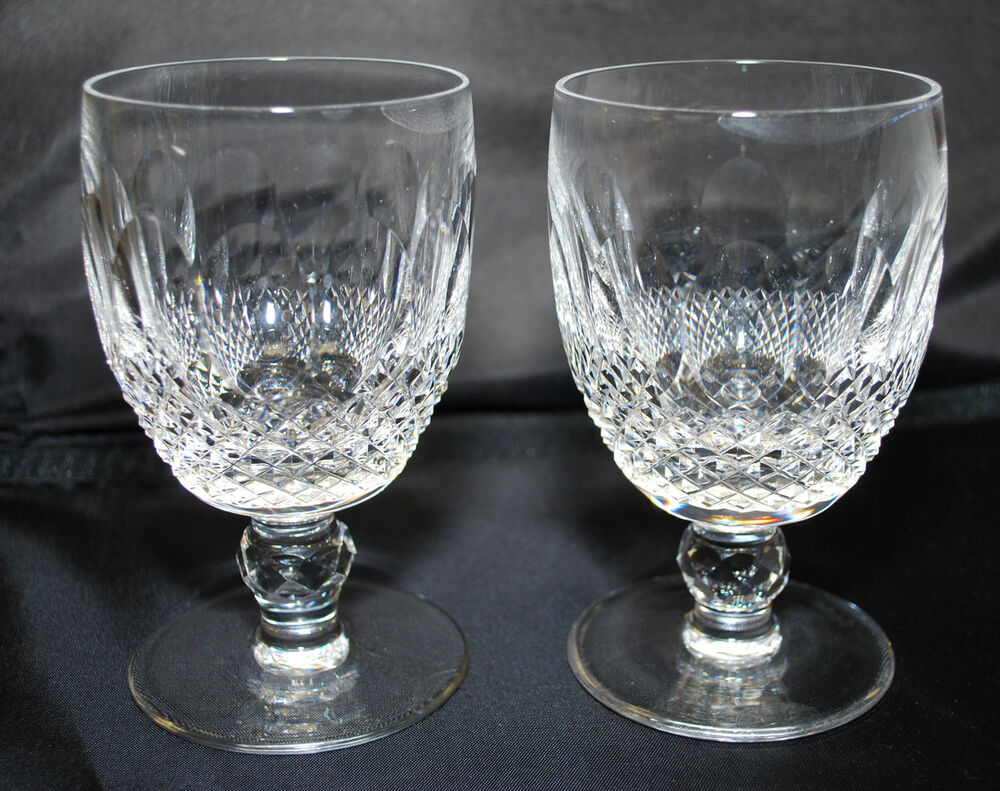 Two waterford colleen short stem 4oz claret wine goblet glasses ebay - Short stemmed wine glasses uk ...