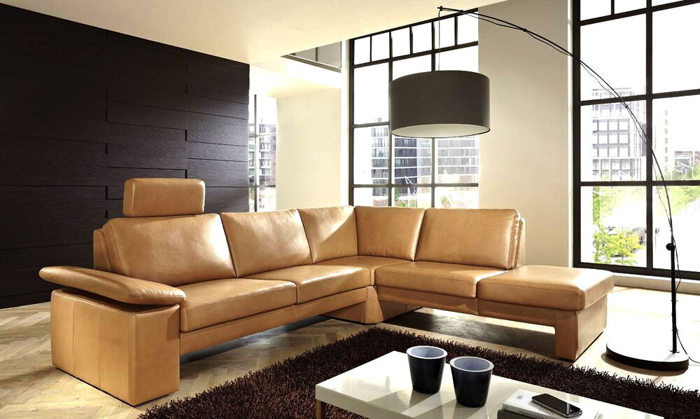leder sofa couch ecksofa eckcouch sofagarnitur wohnlandschaft at funktion neu ebay. Black Bedroom Furniture Sets. Home Design Ideas