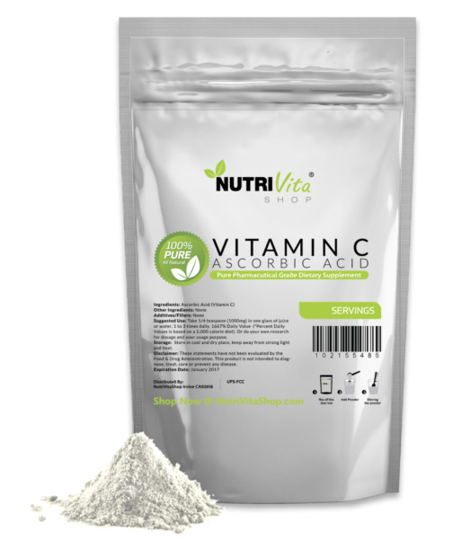 11 lb (5000g) 100% PURE Ascorbic Acid Vitamin C Powder US Pharmaceutical Grade