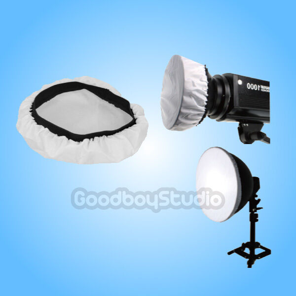 """Alienbees Softbox: Soft White Diffuser Sock (7 To 11"""") For Studio Reflector"""