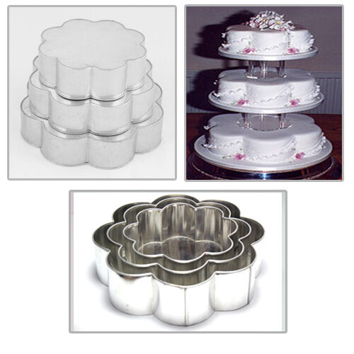 how heavy is a 3 tier wedding cake 3 tier heavy duty petal wedding cake tins 8 quot 10 quot 12 quot ebay 15401
