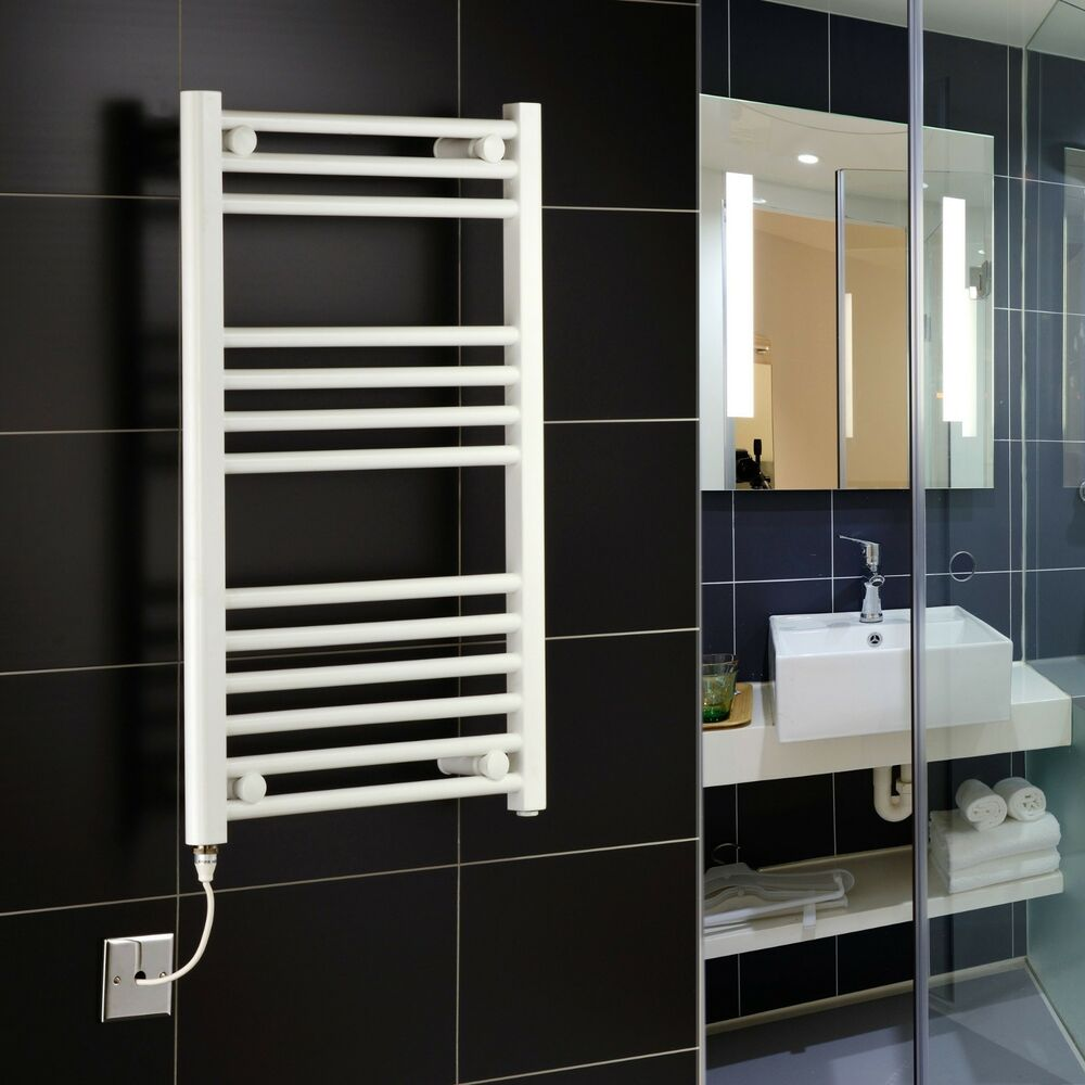 White Electric Towel Rails White Electric Bathroom Towel