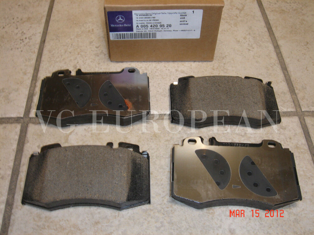 Mercedes w203 c class genuine front brake pad set pads for Mercedes benz e350 brake pads replacement