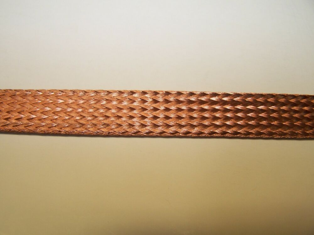 Braided Copper Wire : Feet braided bare copper wire loom sleeve old school