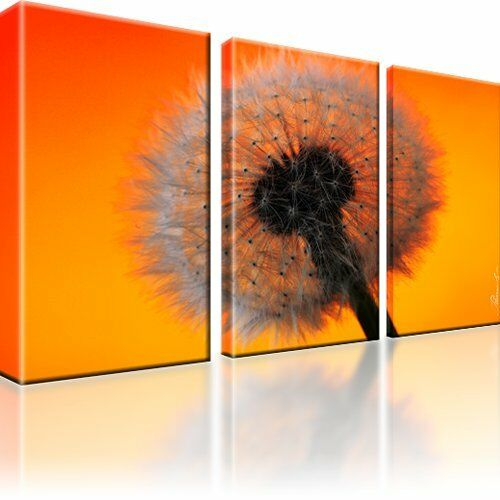 pusteblume bl te blume bild kunstdruck 3 teilige bilder auf leinwand ebay. Black Bedroom Furniture Sets. Home Design Ideas