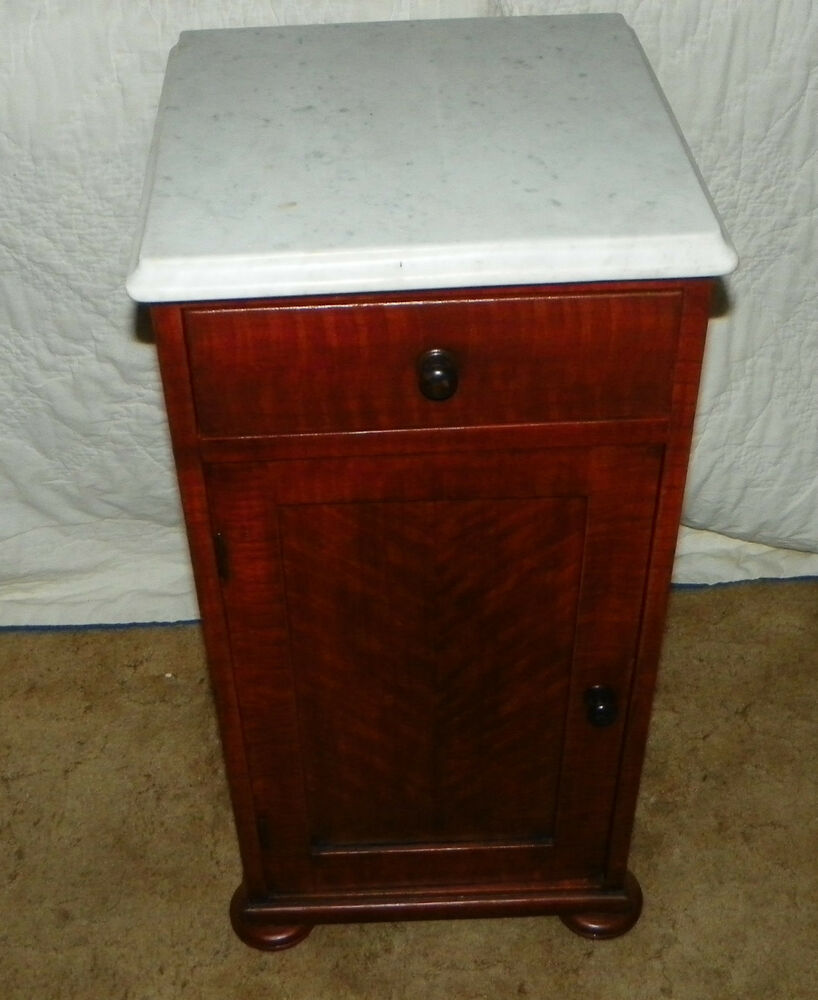 Hand Painted Faux Tiger Cherry Finish Marble Top Half