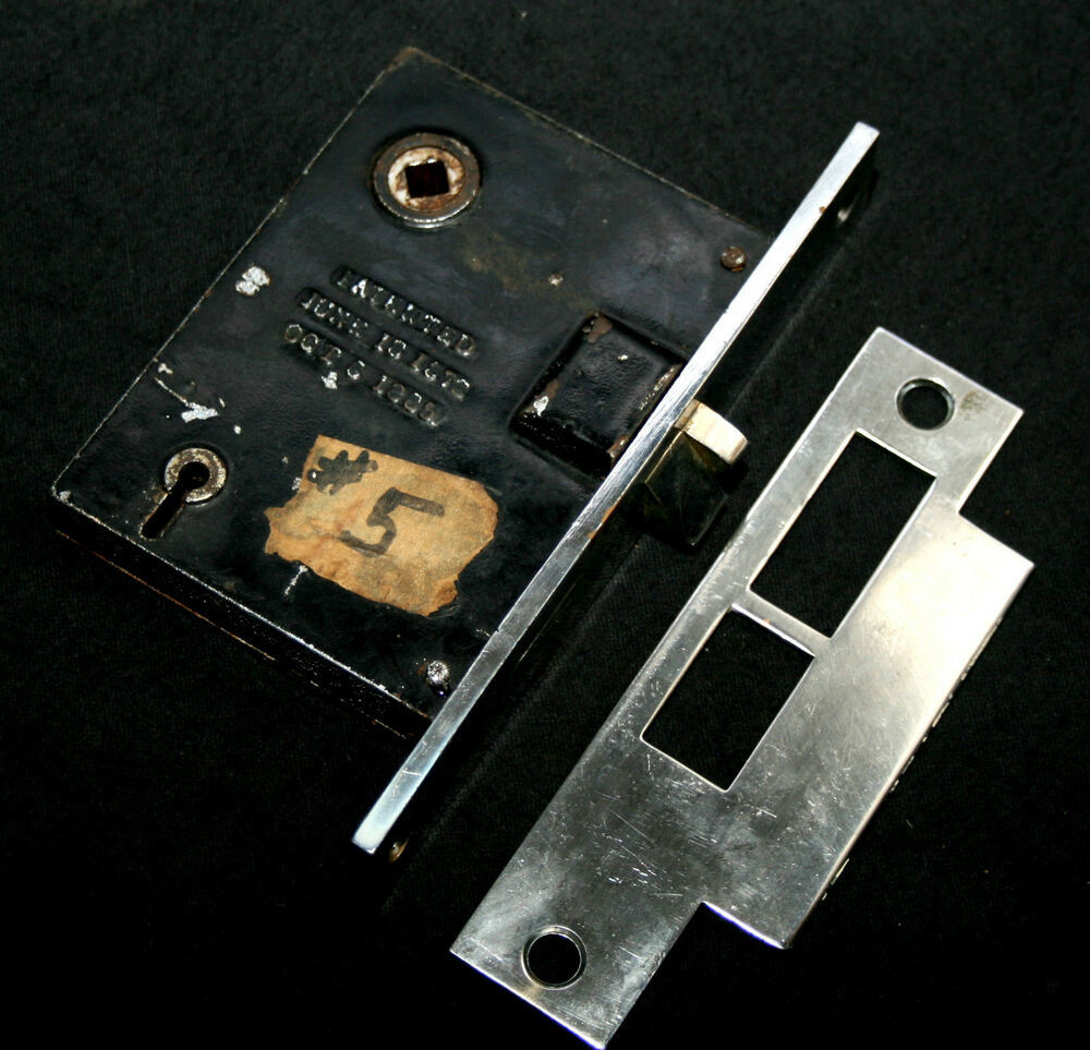 19th Century Mortise Lock With Matching Strikeplate
