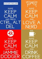 Personalised Keep Calm Posters - Any design, Any colour! Birthday & Christmas